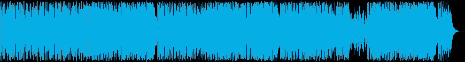 ボサノヴァ、お洒落でロック調BGMの再生済みの波形