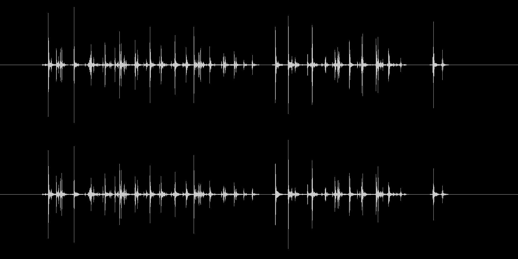 【録音】キーボード入力音の未再生の波形