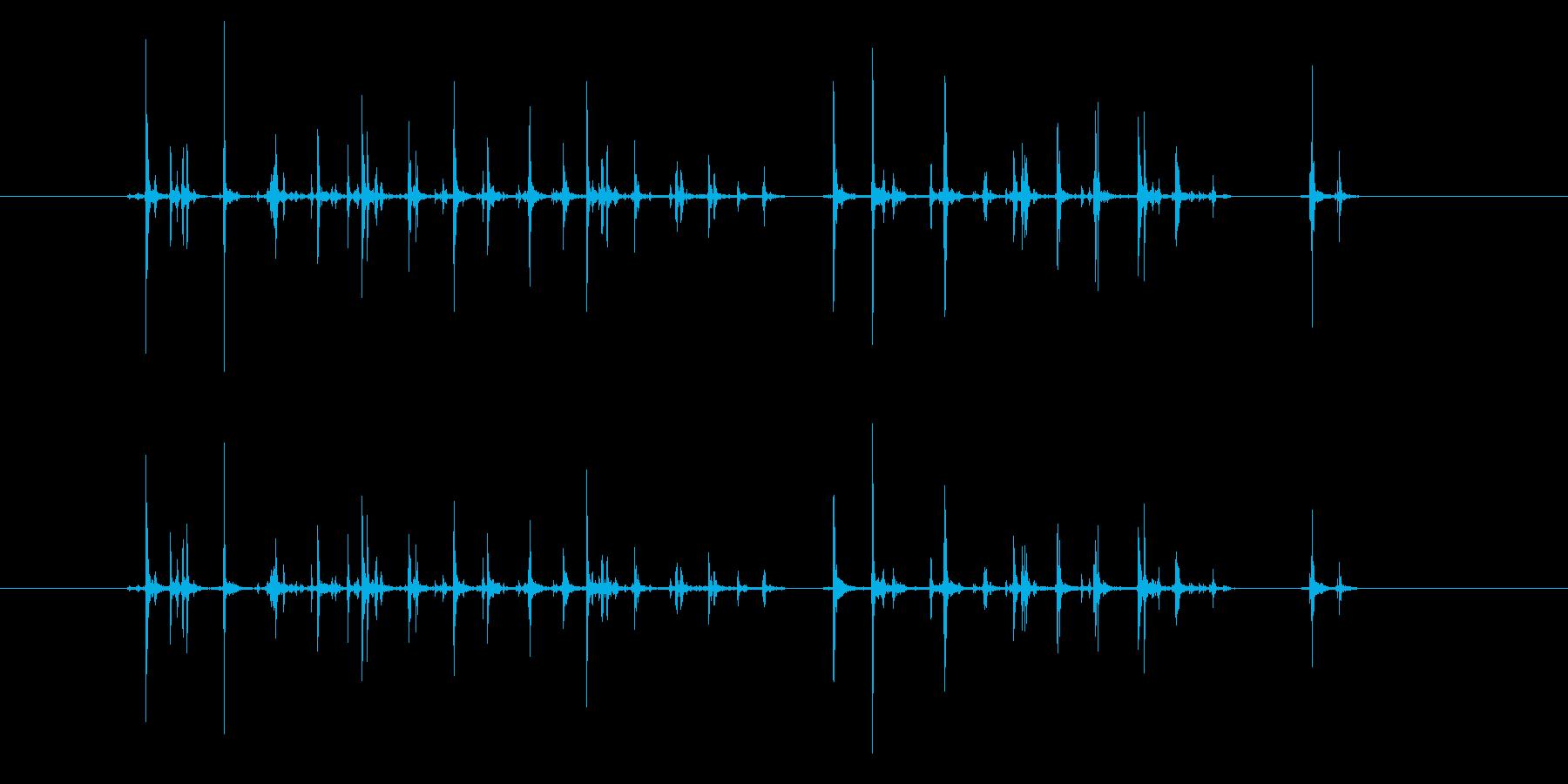 【録音】キーボード入力音の再生済みの波形