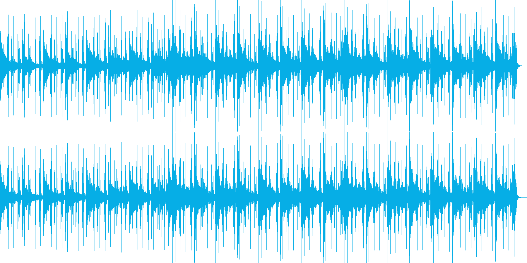 切ない雰囲気のローファイな曲の再生済みの波形