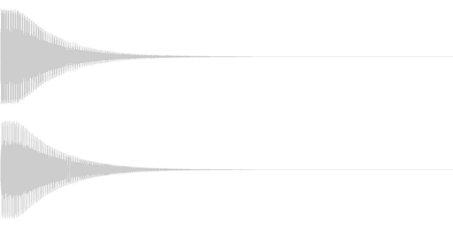 ブゥン~の未再生の波形