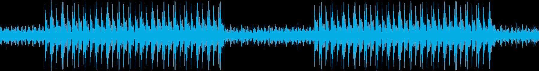不気味なダークトラップヒップホップBGMの再生済みの波形