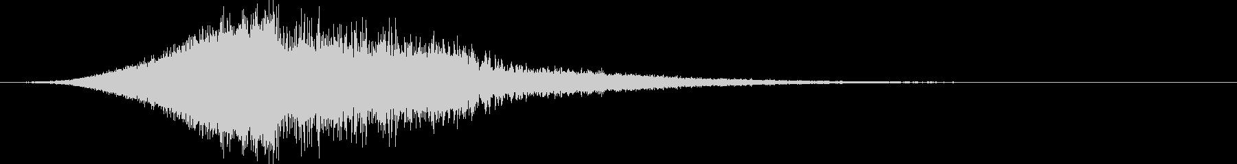 シュードカーン:上昇して爆発する音3の未再生の波形