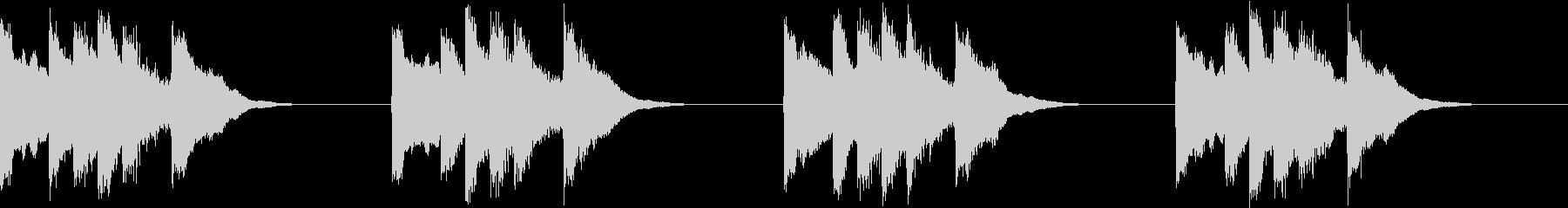 シンプル ベル 着信音 チャイム A12の未再生の波形