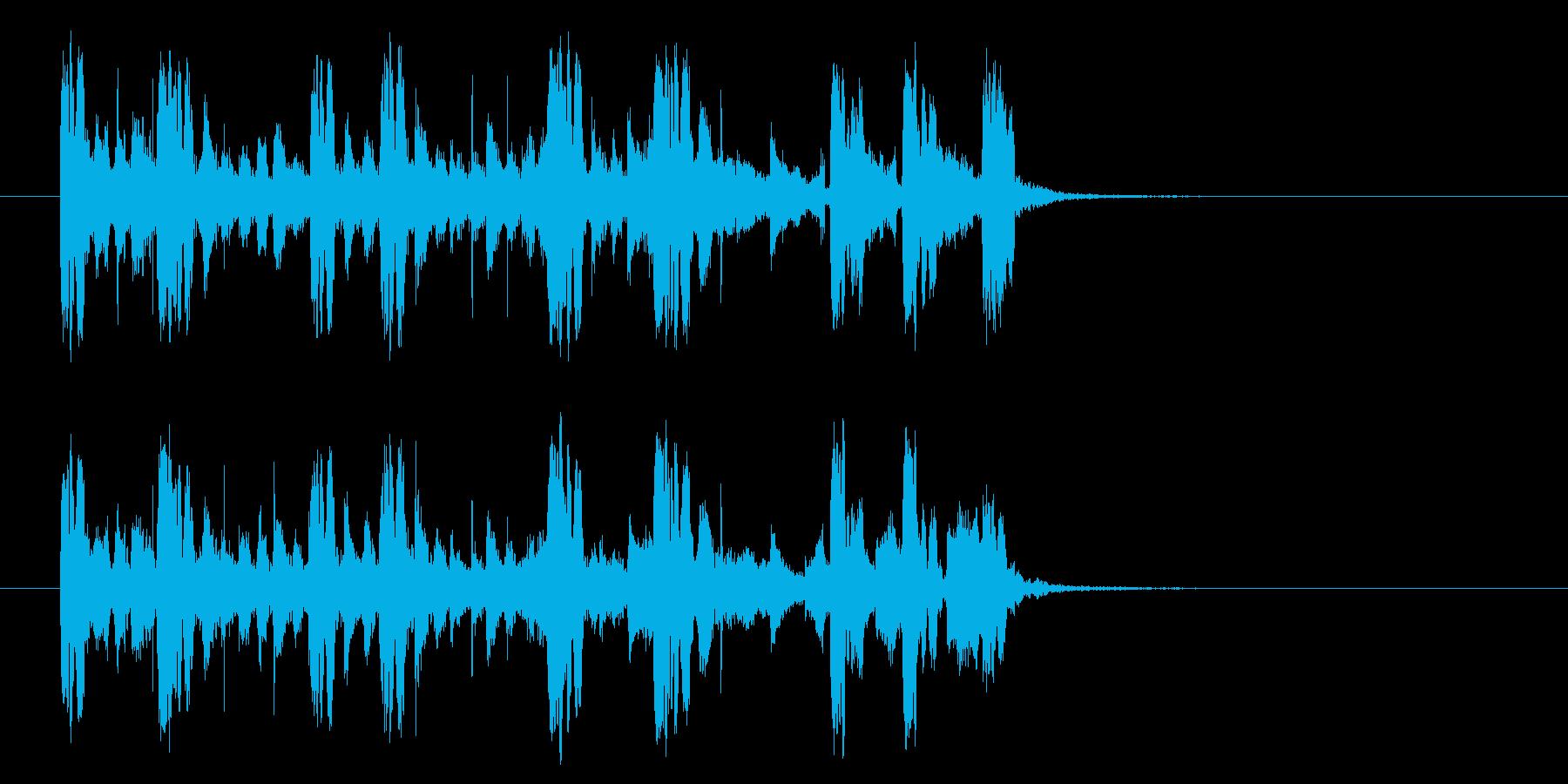 スピーディーで近未来的なテクノジングルの再生済みの波形