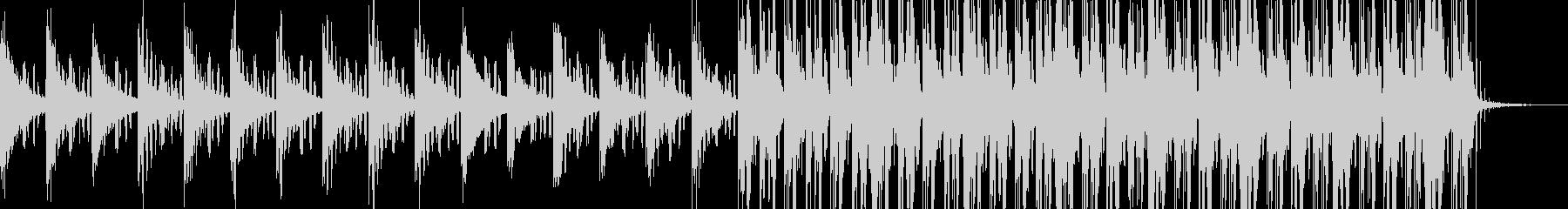 実用的シンセの無機質アンビエントBG10の未再生の波形