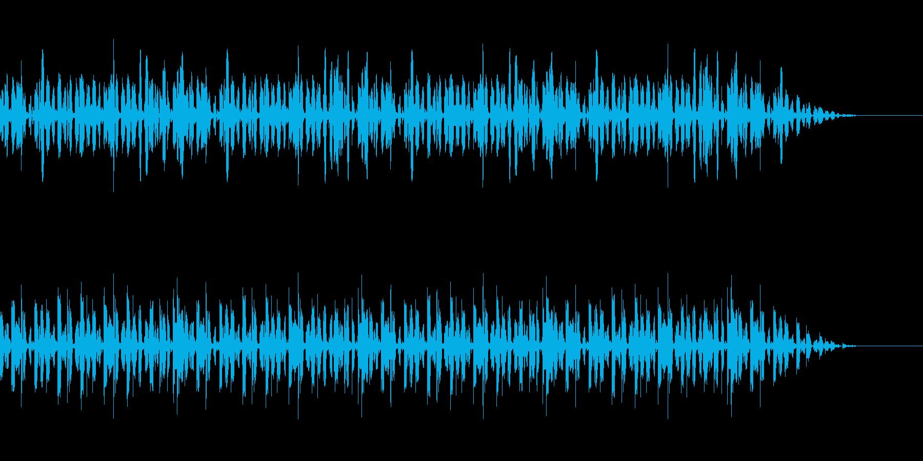 楽しげな日常の光景のBGMの再生済みの波形