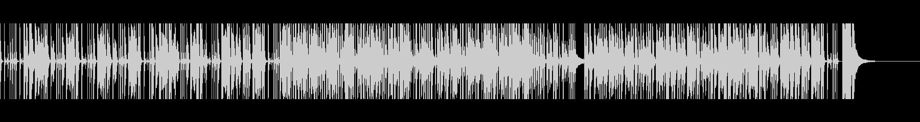 ゆるい雰囲気の日常BGMの未再生の波形
