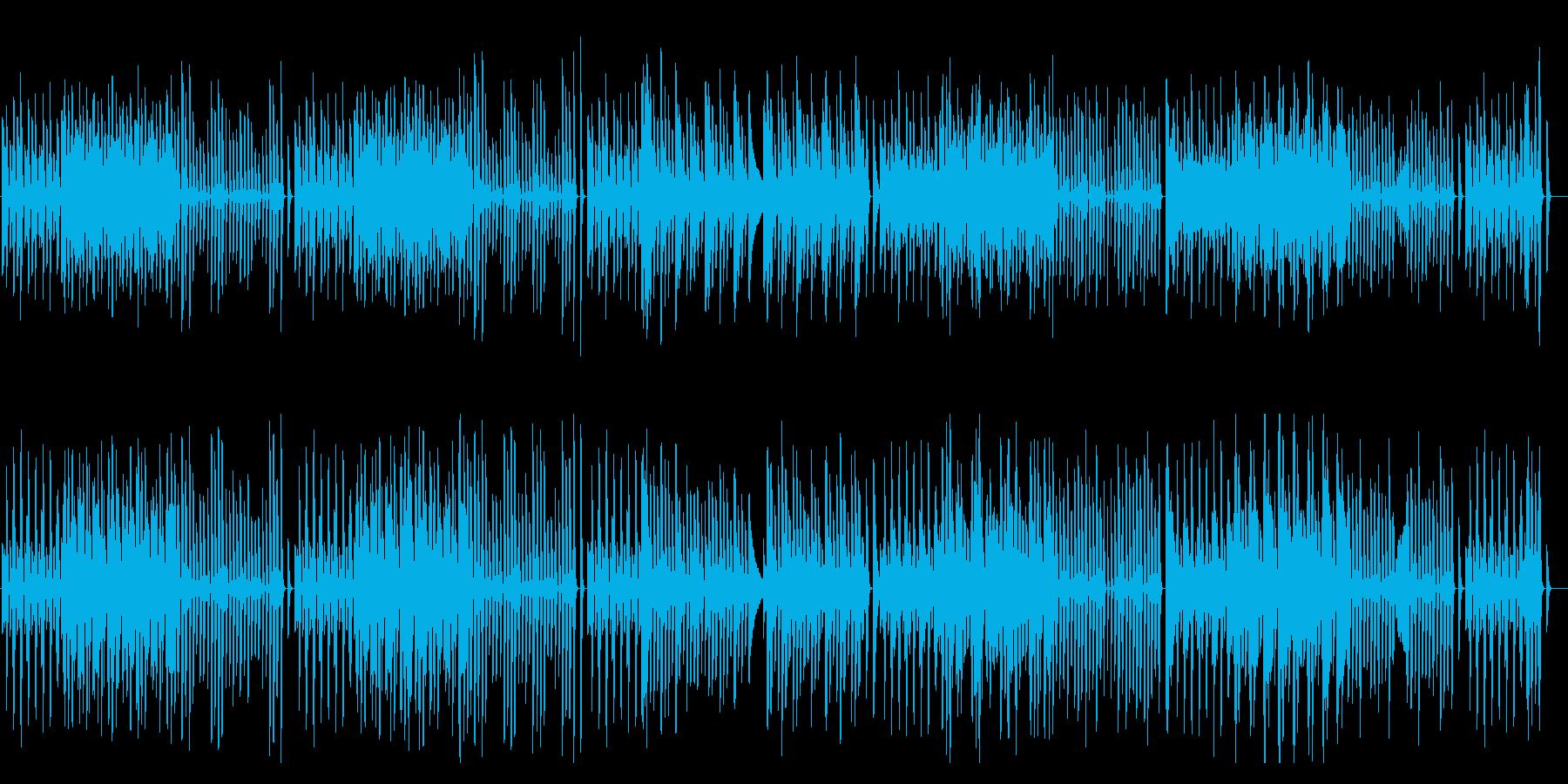軽快でかわいいシンプルなピアノ曲の再生済みの波形