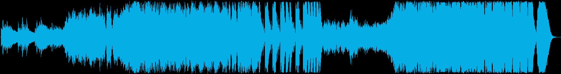 ゲーム風なオープニングの再生済みの波形