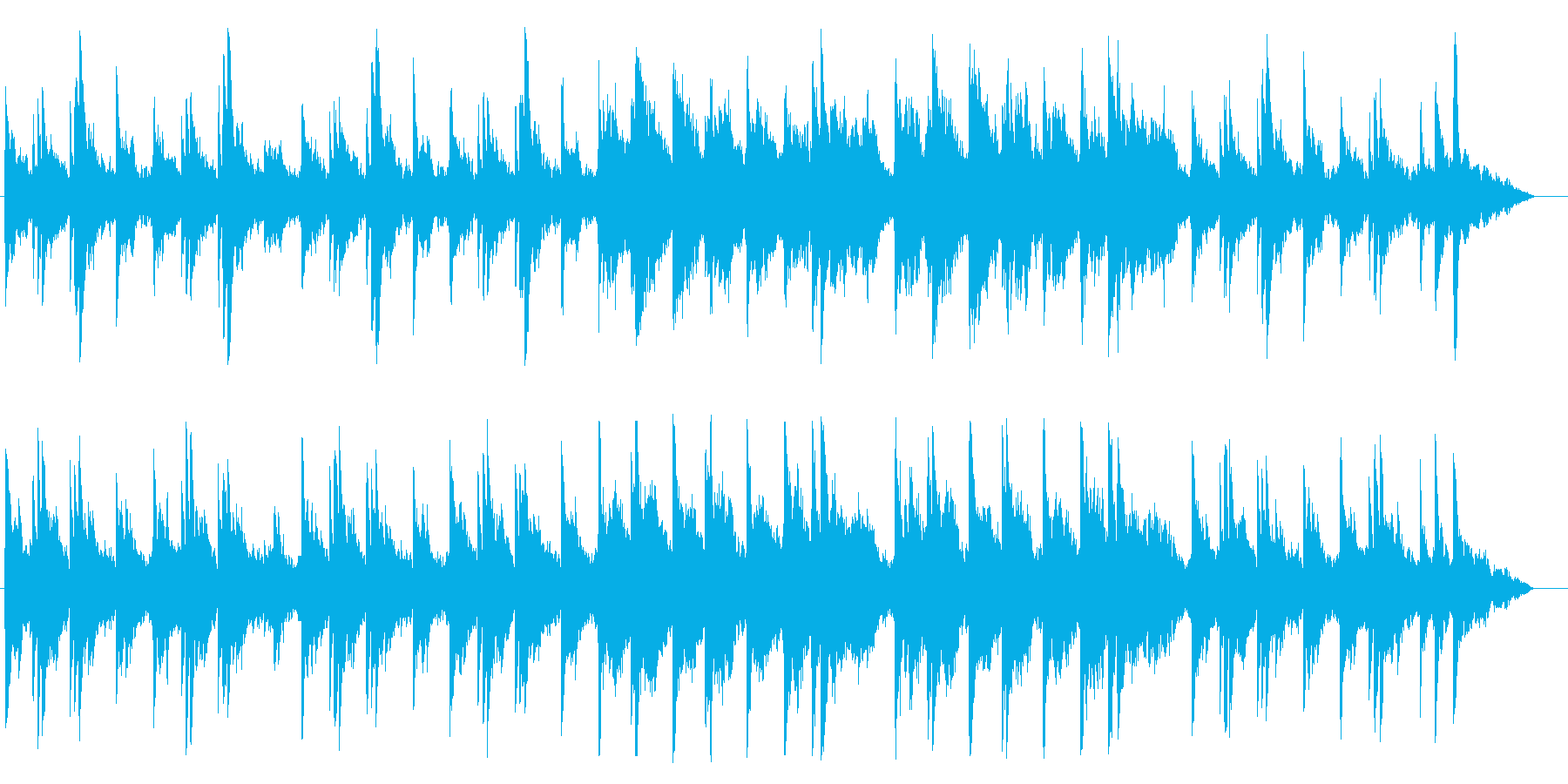 ドローンで地平線を追いかけるイメージの再生済みの波形