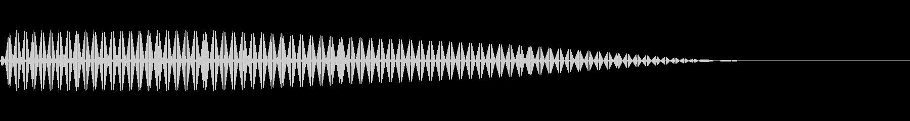 ピッ(ファミコンぽい決定/キャンセルの未再生の波形