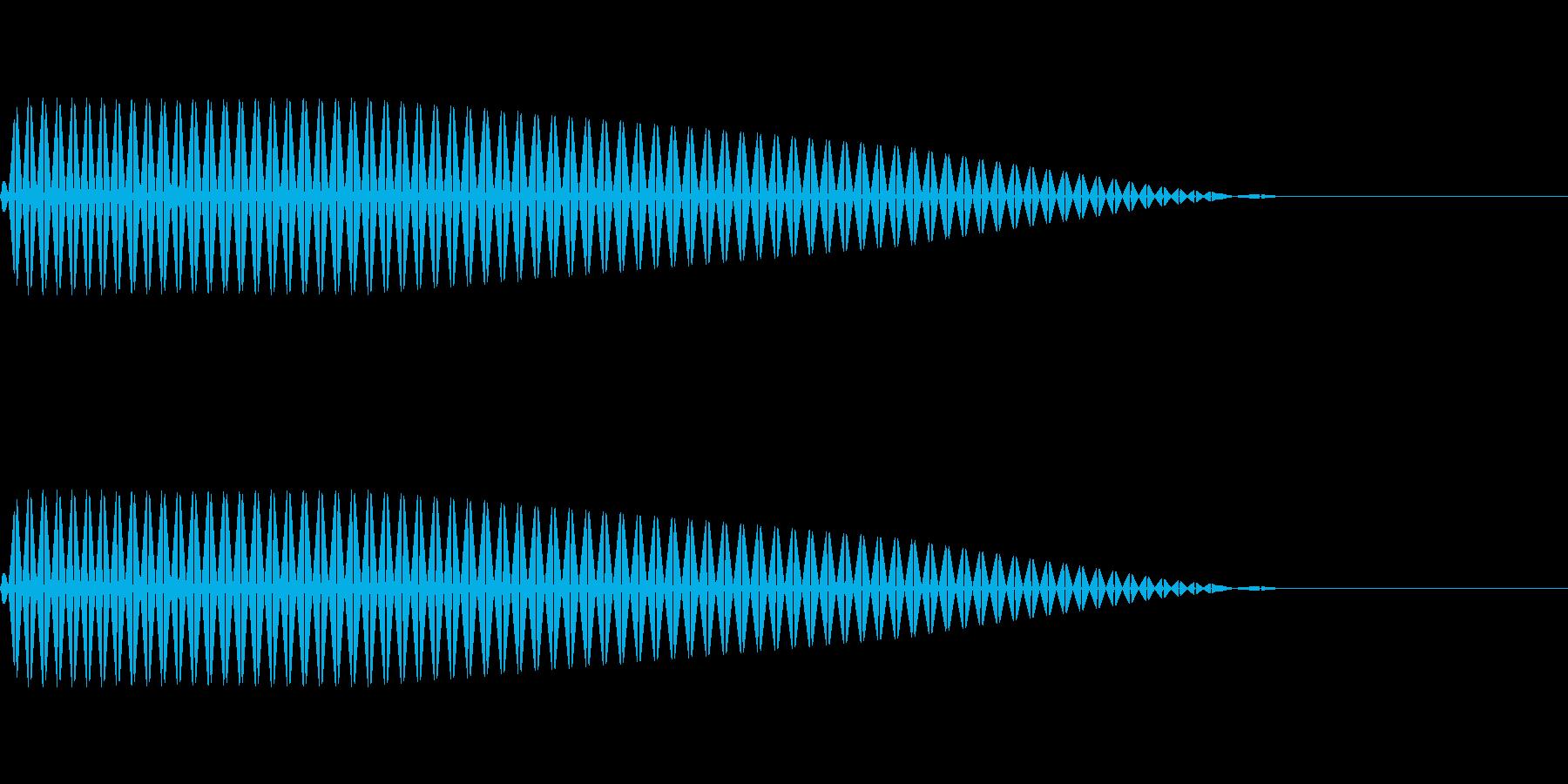 ピッ(ファミコンぽい決定/キャンセルの再生済みの波形