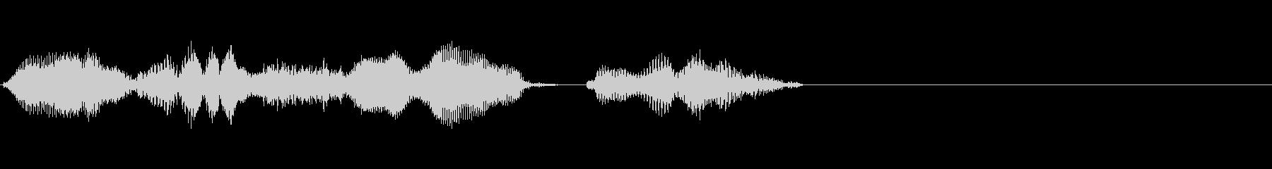 リリース予定(effect)の未再生の波形