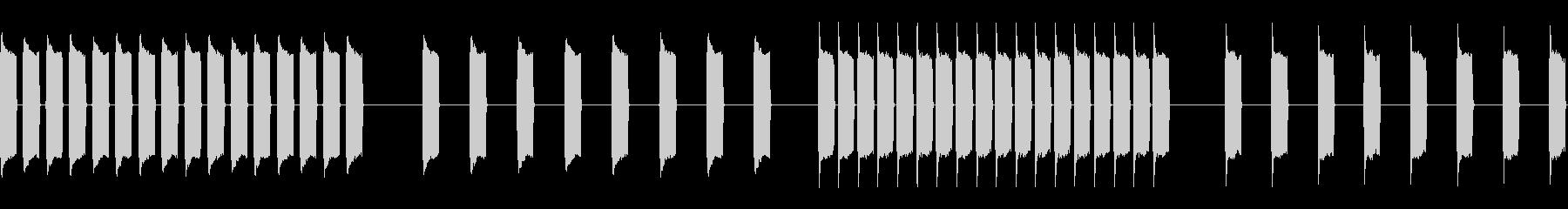 低信号、4バージョン、低、静的; ...の未再生の波形