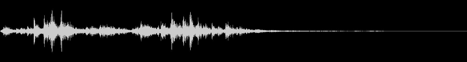 フィルムリールスライドフロアの未再生の波形