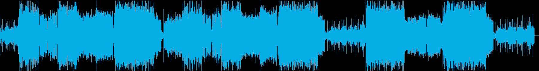 怪しい雰囲気の曲メロ入りの再生済みの波形