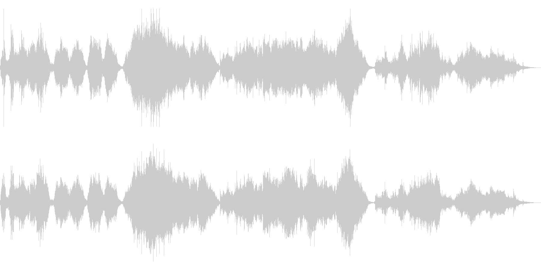 ドビュッシー「アラベスク」絃楽アレンジの未再生の波形