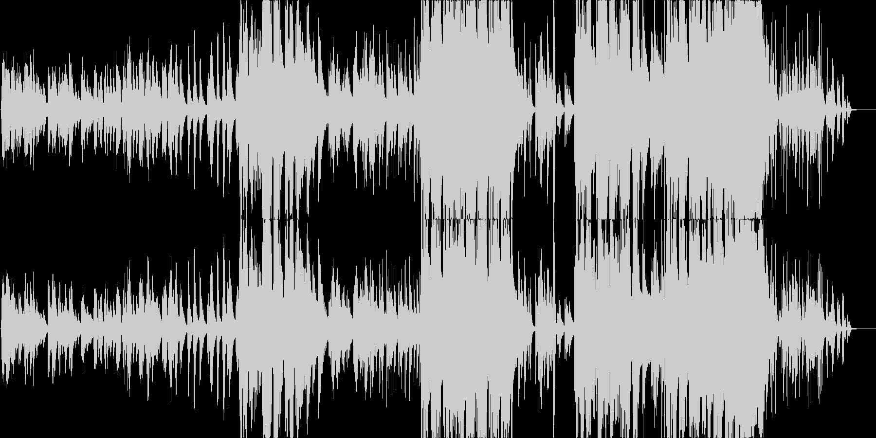 女性Voとピアノとアンビエントギターの未再生の波形