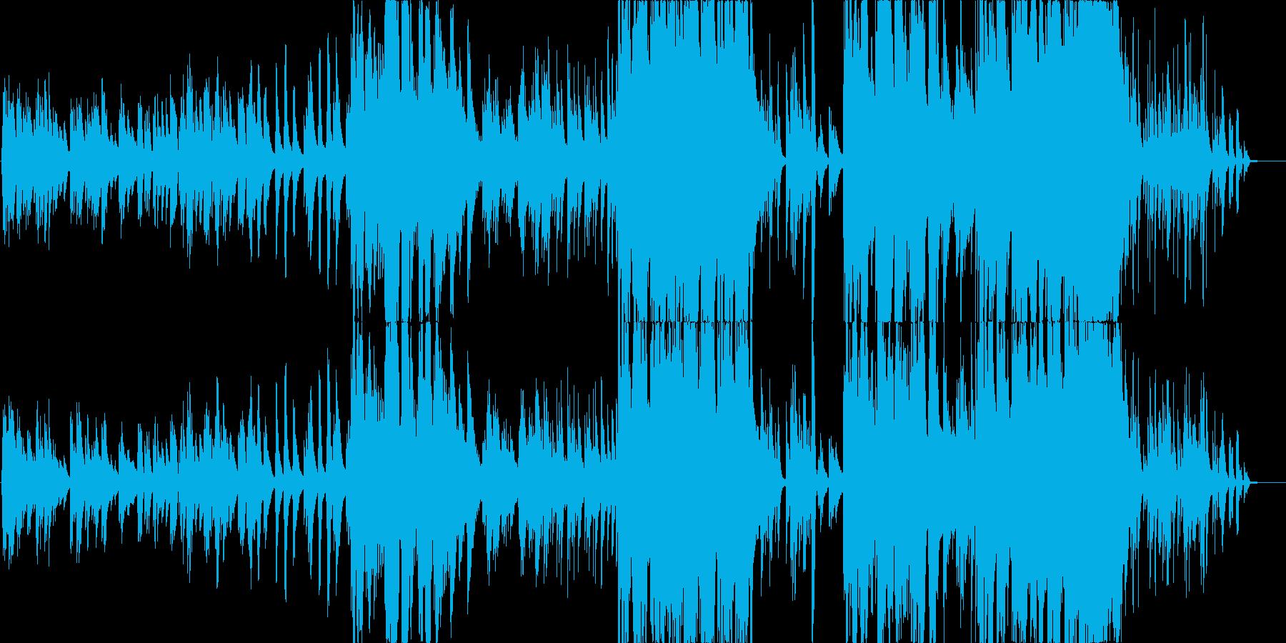 女性Voとピアノとアンビエントギターの再生済みの波形