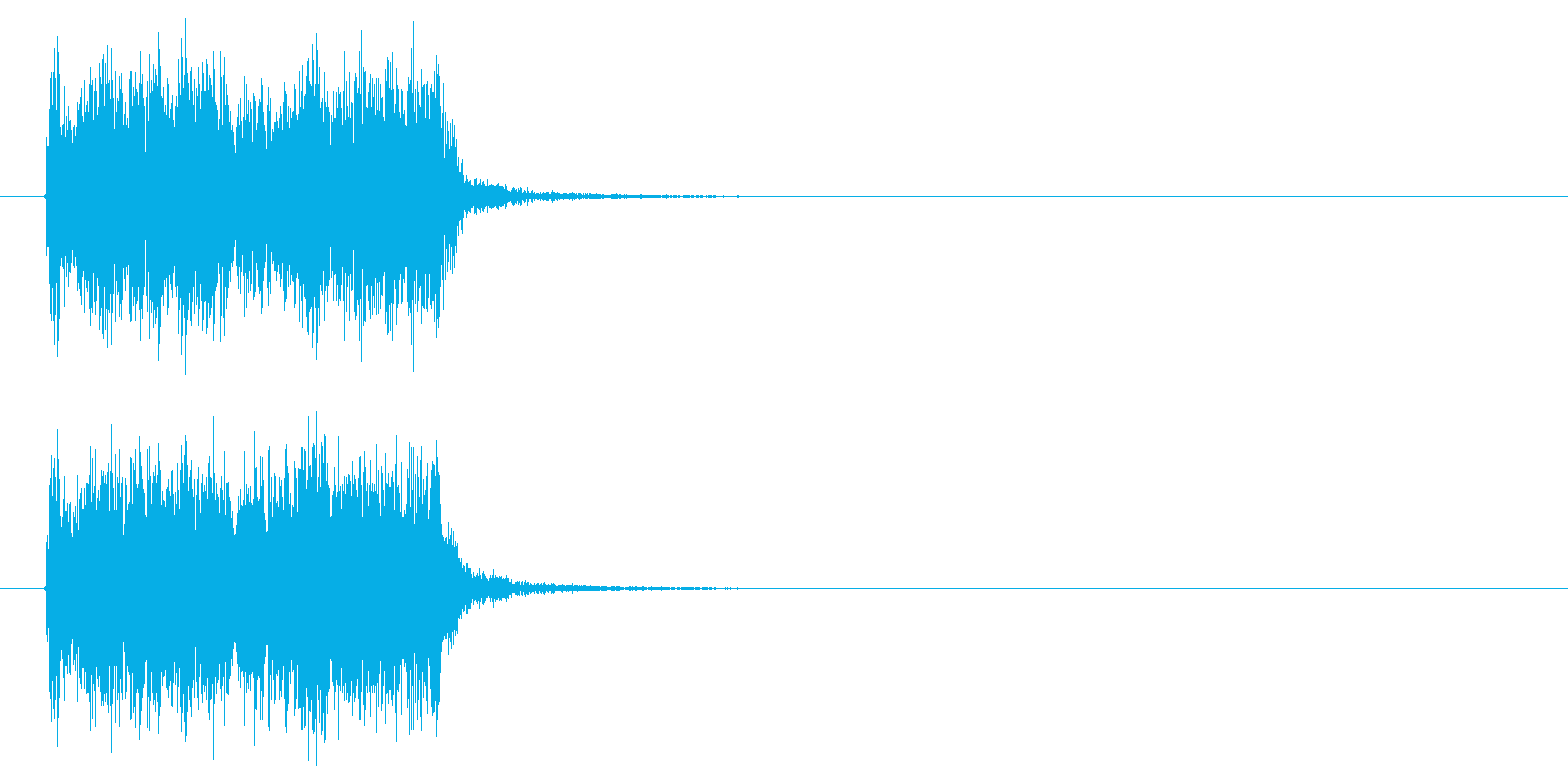 スピーディーで勢いのあるジングルの再生済みの波形