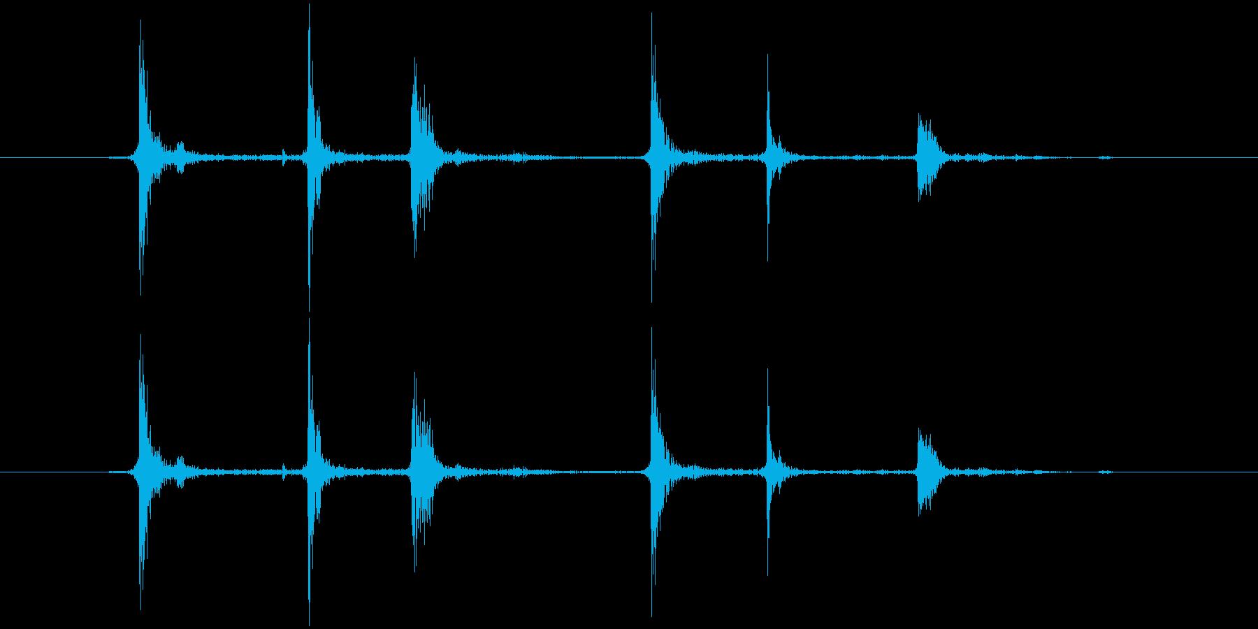 チャラ(金属)の再生済みの波形
