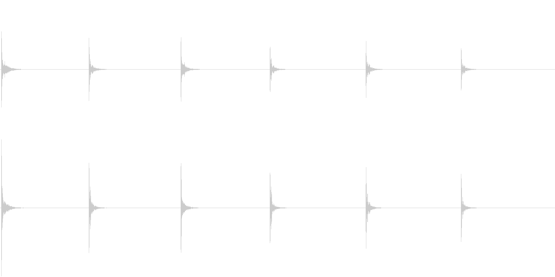 【生録音】お箸の音 1 食器とカツカツの未再生の波形