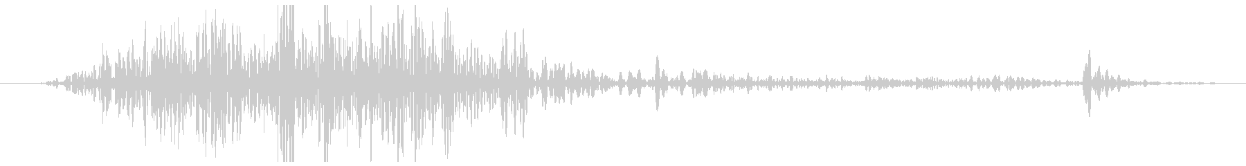 手動カッター:シングルカット、オフ...の未再生の波形