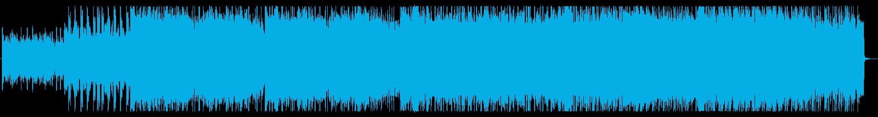 和太鼓と笛の戦国時代風バトルBGMの再生済みの波形