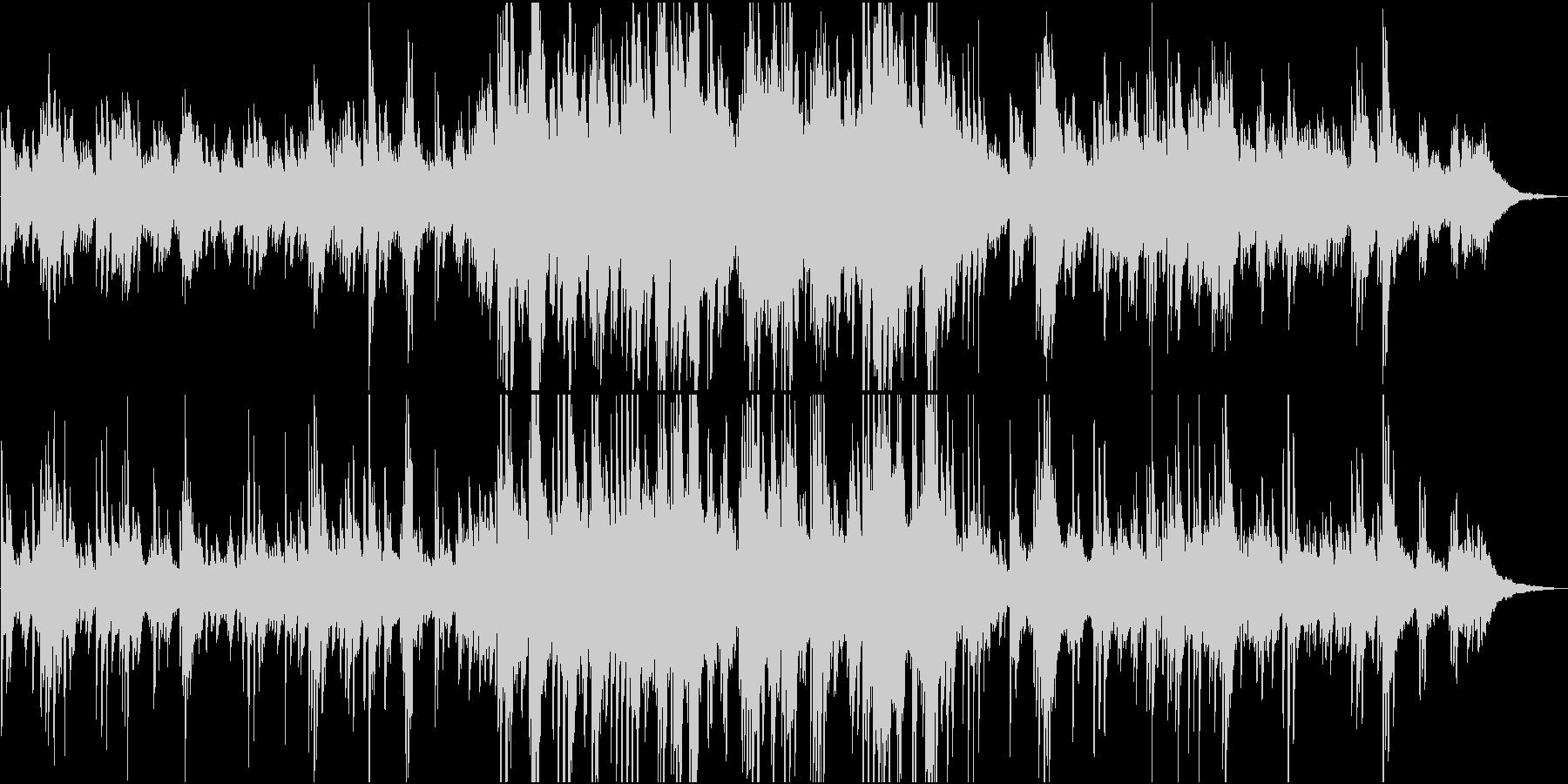 雪・和風・静か 儚く幻想的なピアノソロの未再生の波形