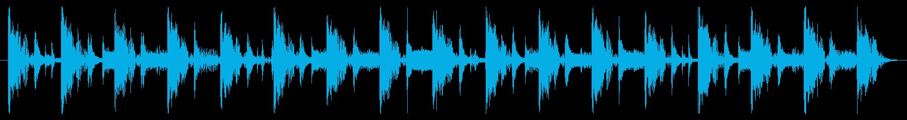 ベース生演奏のクールスラップジングル07の再生済みの波形