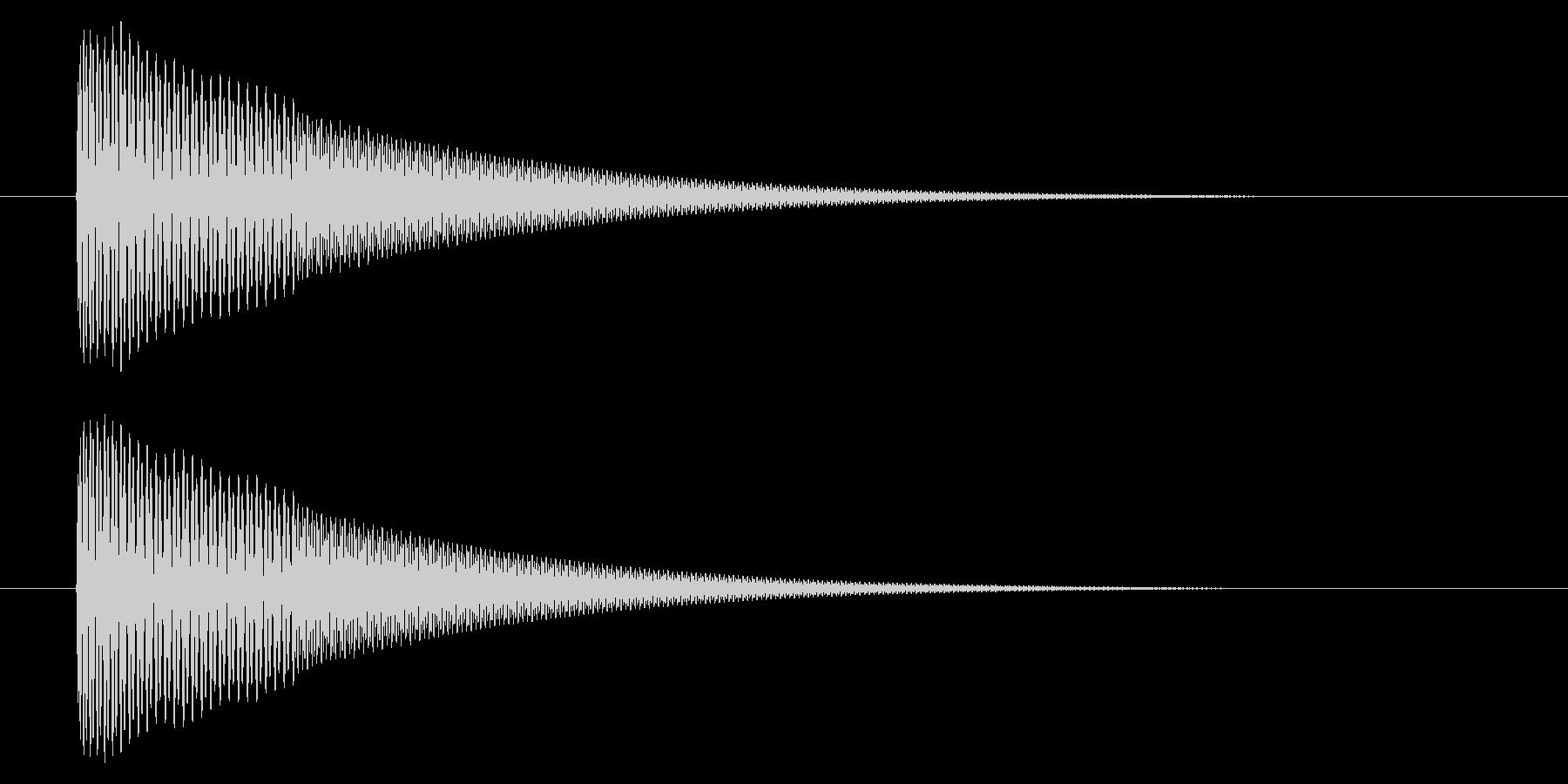 アプリの決定音などに使えるシンプルな音の未再生の波形