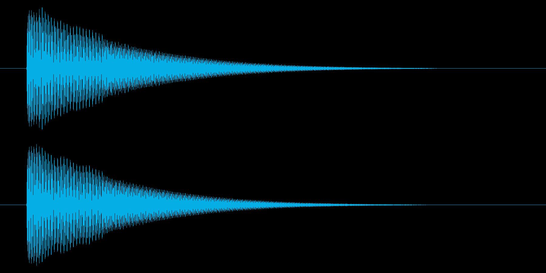 アプリの決定音などに使えるシンプルな音の再生済みの波形