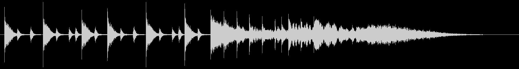 ドラムソロによる軽快なサウンドロゴの未再生の波形
