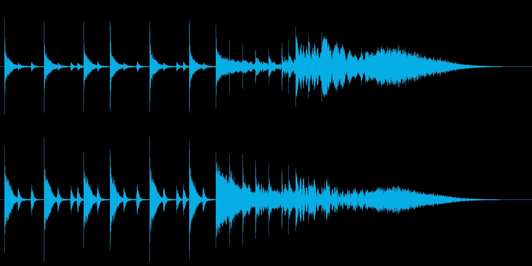 ドラムソロによる軽快なサウンドロゴの再生済みの波形