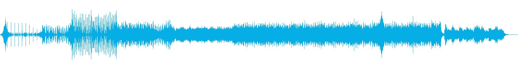 ドラムから始まるポップなEDMの再生済みの波形