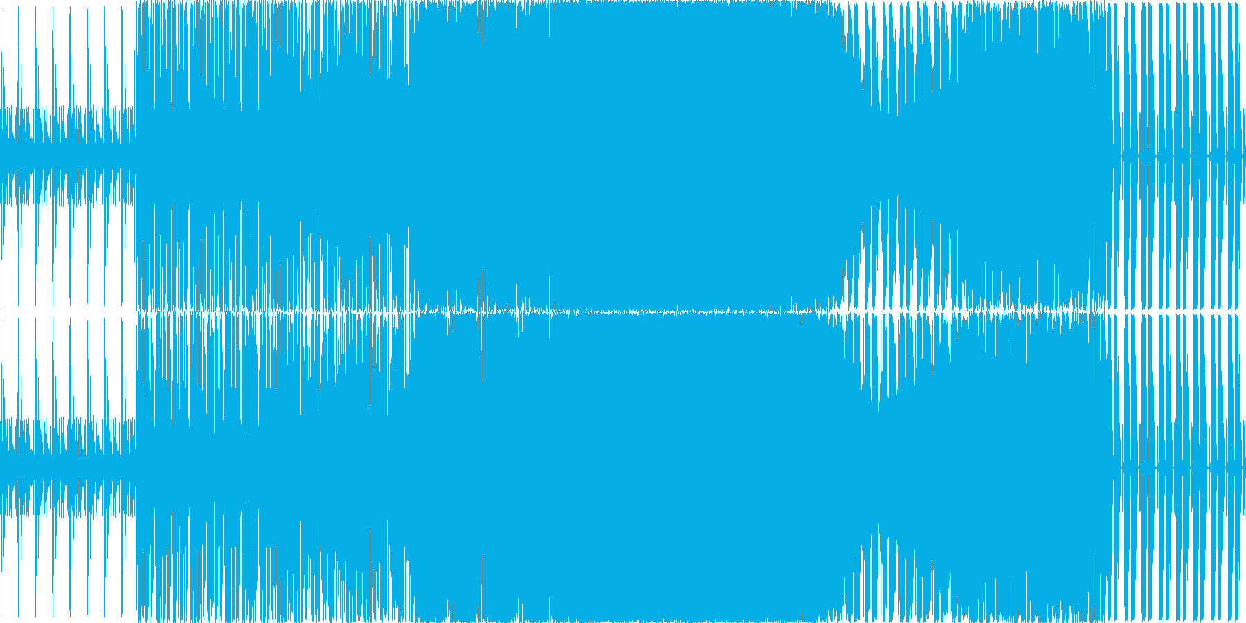 暗めの曲ですの再生済みの波形