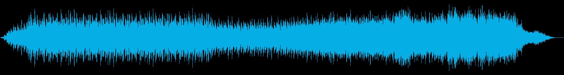 ヒーリング向けの優しいアンビエントの再生済みの波形