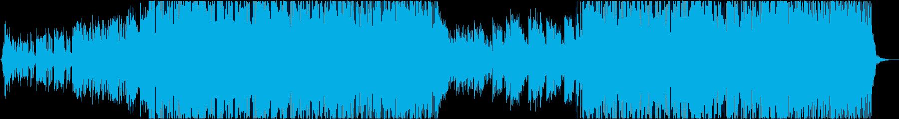 エネルギッシュな雰囲気のプログレッシブ・の再生済みの波形