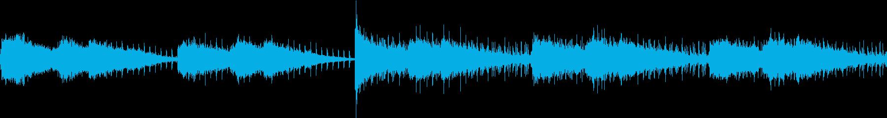 何か来そうな恐怖のBGM。ループできますの再生済みの波形