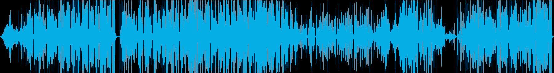 ジャズ。ジャズ四重奏団の即興演奏。の再生済みの波形
