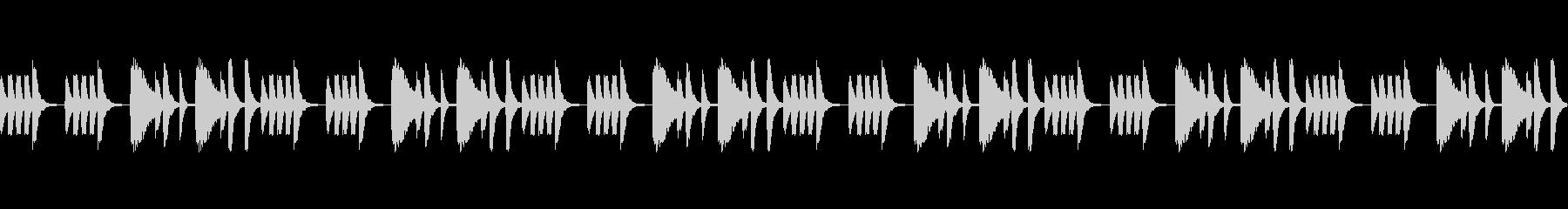 YouTuberの雑談BGMの未再生の波形