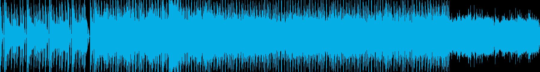 パズルゲームをイメージしたテクノ調の楽曲の再生済みの波形