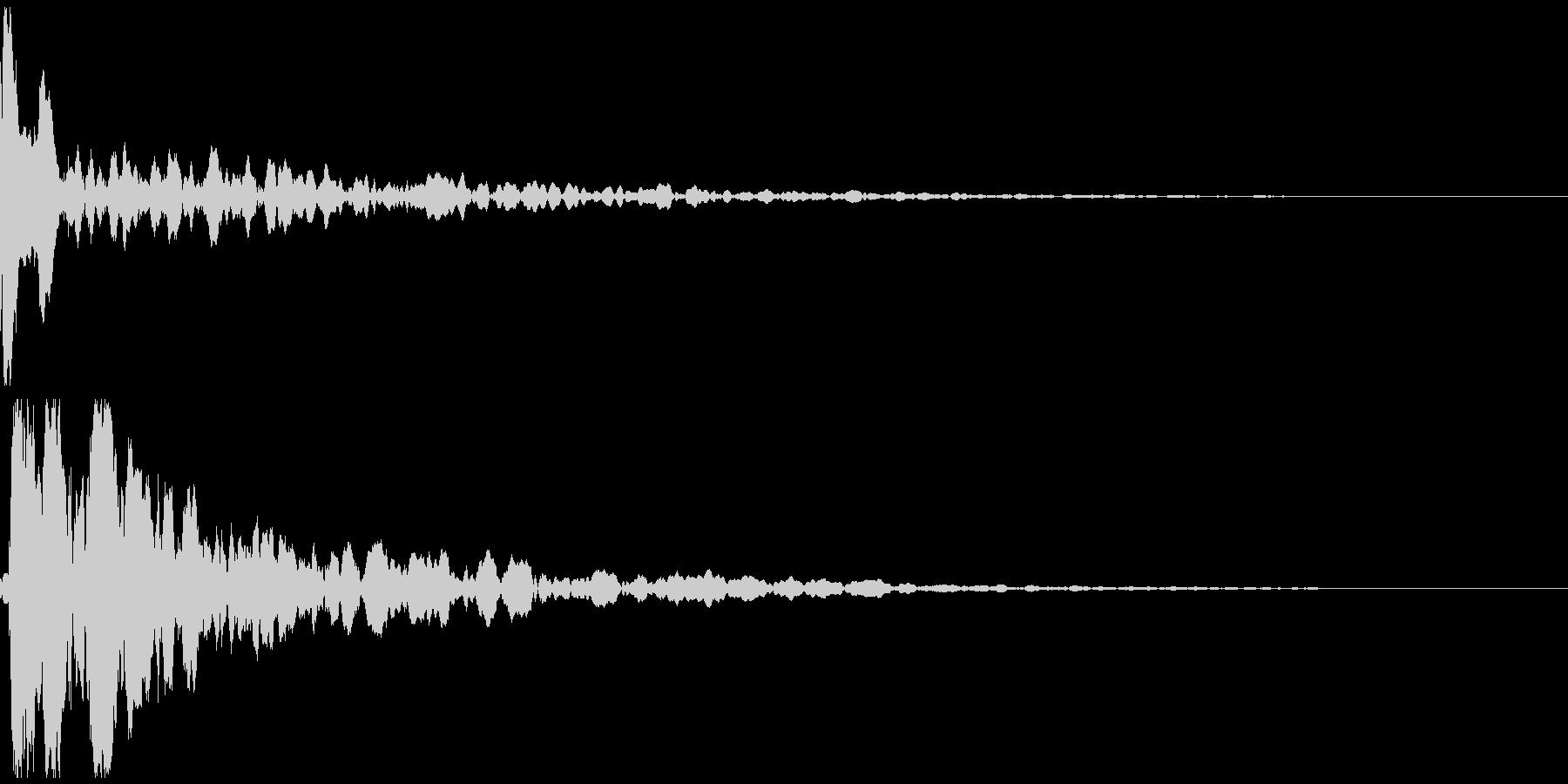 カッ!という拍子木の音の未再生の波形