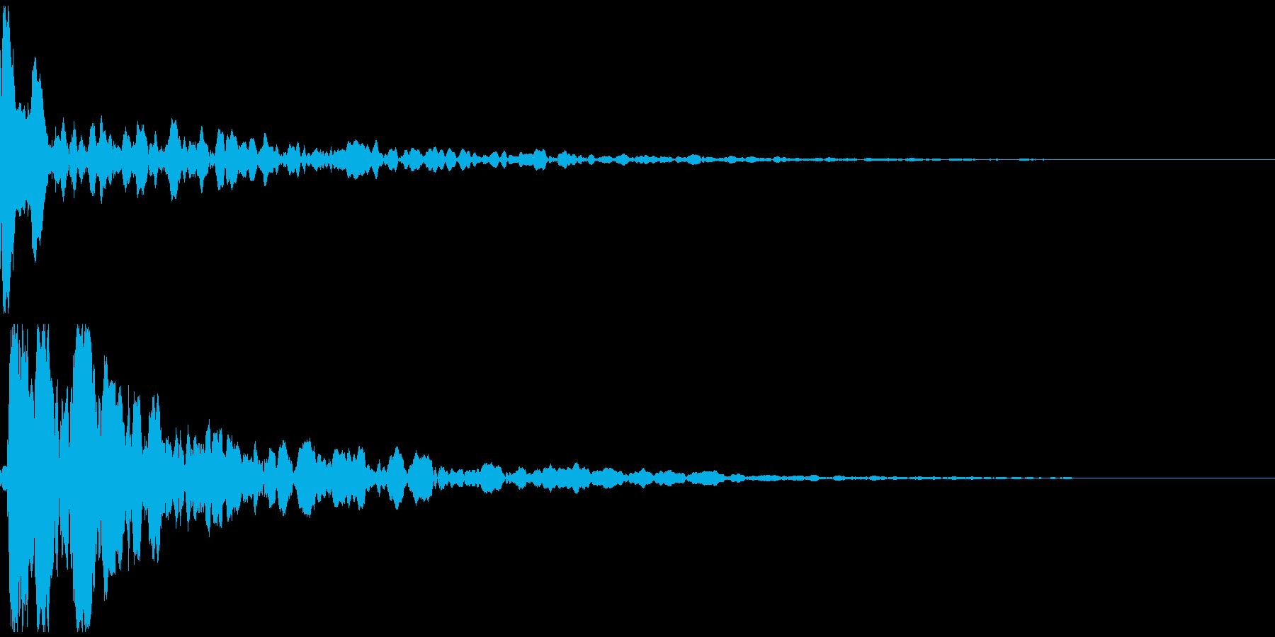 カッ!という拍子木の音の再生済みの波形