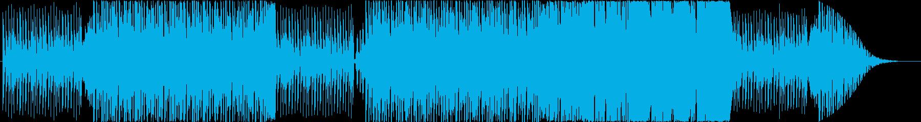 機械的なステージをイメージしたゲーム音楽の再生済みの波形