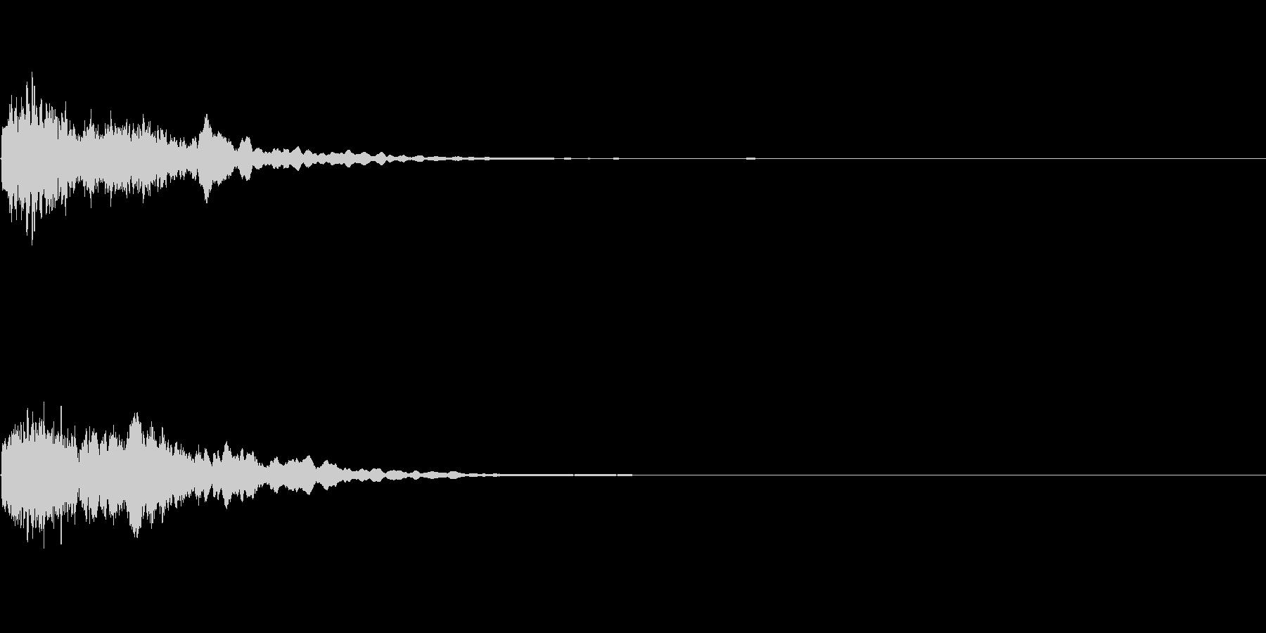 キュイーン:光るイメージの未再生の波形