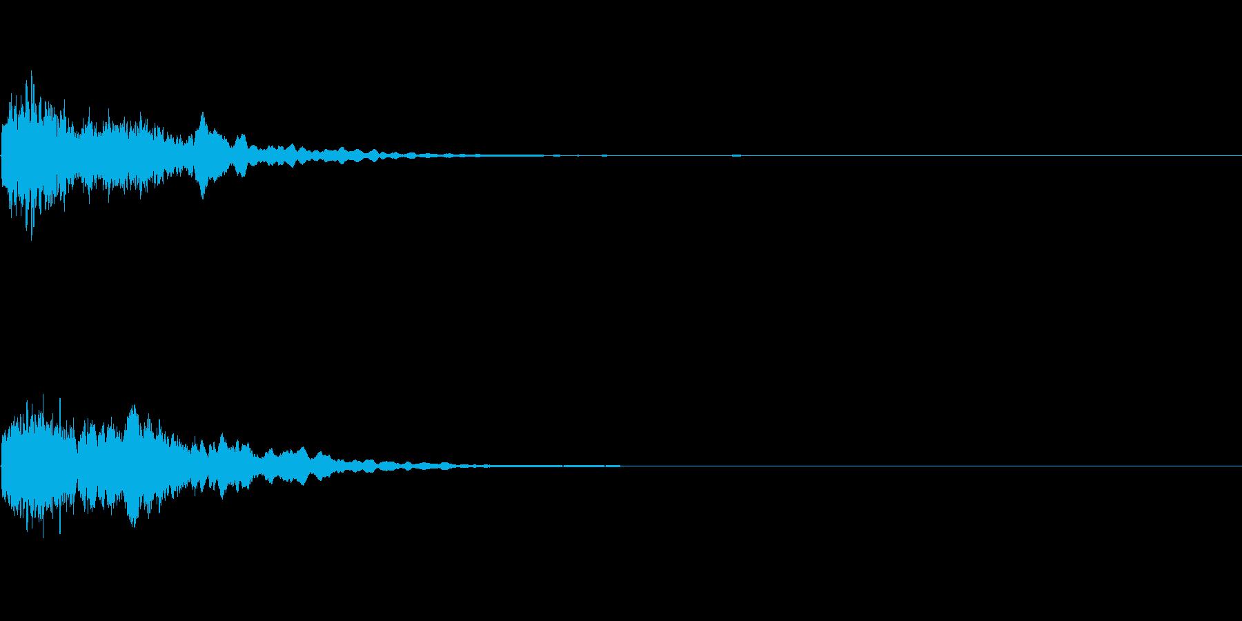 キュイーン:光るイメージの再生済みの波形