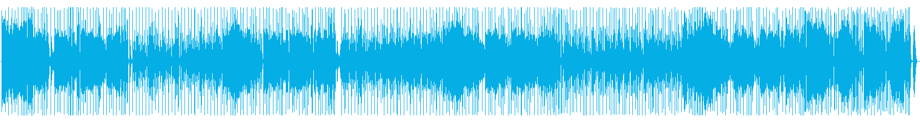 明るいカンジの80年代風?ファンクBGMの再生済みの波形