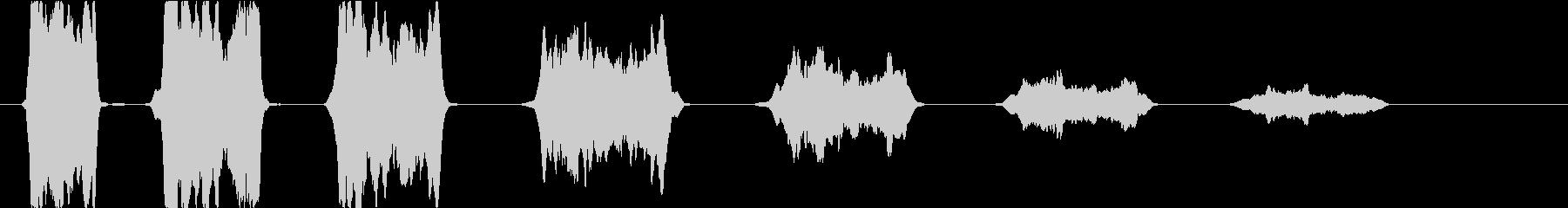 ゲームオーバー:減少していく失敗の音2の未再生の波形